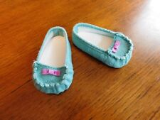 AMERICAN GIRL TRULY ME DOLL TEAL MOCCASINS  NEW IN BOX FREE SHIPPING RETIRED