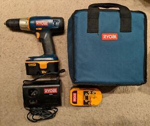 Ryobi P850 Kit - 18V P204 Drill, P110 Charger, 2 P100 One+ Batteries & Bag Case