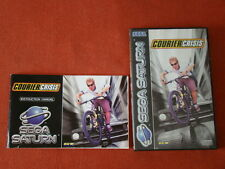 COURIER CRISIS / PAL - EURO / ONLY BOX & MANUAL - NO CD GAME / SATURN  SS ** 512