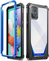 Poetic For Galaxy A51 Case, Dual Layer Shockproof Protective Cover Blue
