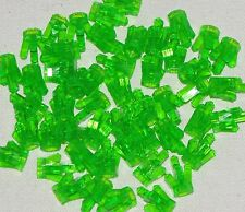LEGO LOT OF 50 NEW TRANSPARENT LIGHT GREEN 5 POINT CRYSTALS JEMS JEWELS PARTS