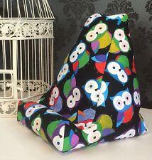 Black Owl Design Cushion Pillow Beanbag Bean Bag Suits Ipad, Books & Tablets
