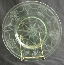 "HIGH QUALITY HOCKING 8 1/4"" LUNCHEON CAMEO BALLERINA GREEN DEPRESSION FREE SHIP"
