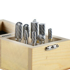 Carbide Rotary Burr Double Cut 1/4-Shank Die Grinder Drill Set of 9  Double Cut