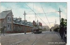 WESTLAND DRIVE, WHITEINCH: Glasgow postcard with tram (C1365).
