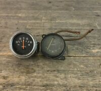 Two Vintage Classic Car Amps Gauge Dials To Include Lucas Example.