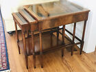 Weiman Heirloom Nesting Side Tables 1950's with Leather Tops in Good Condition