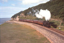 Rail Slide BRW 519 3MT 82033 on the up CCE at Aberdovey, blue sea very pleasant