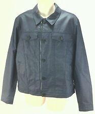 SEVEN For All Mankind Men's Coated Trucker Jacket Blue Raincoat Large L $378