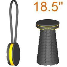 "Padded 18.5""(47cm) portable Mini-Max stool (Safrut). Folding seat. Travel chair."