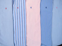 Lot Of 5 Ralph Lauren Polo Short Sleeve Button Front Shirts Mens L Large