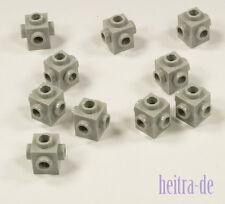LEGO - 10 x Konverter - Stein 1x1, Noppen auf 4 Seiten hellgrau / 4733 NEUWARE