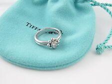 Tiffany & Co Picasso White 18k Gold Jolie Diamond Ring Size 4!