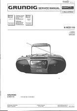 Grundig Original Service Manual für K- RCD 110