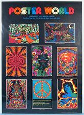 1972 Black Light Psychedelic Store Display Poster Mick Jagger Krishna Third Eye