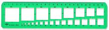 Hellerman Cuadrado plantilla contiene 24 plazas de 2 a 35mm Ref: 156005