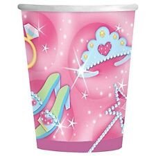 Amscan 8 Pack Pink Girl PRINCESS Birthday Paper Drinking Cups Party Table 9oz