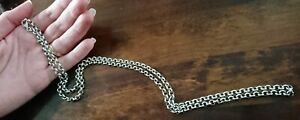 Vintage Sterling Silver 925 Belcher Chain Necklace 30 Inch  29 Gram