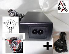 Netzteil Adapter 12V 5V 2A Fly Power FLY36W-5-12R Gehäuse Festplatte 6Pin #L