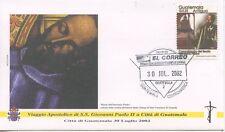 ENVELOPPE VISITE DU PAPE GIOVANNI PAOLO II / GUATEMALA / 2002