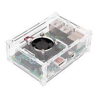 Transparent Case Enclosure Box + Cooling Fan for Raspberry Pi 2 Model B+ N3