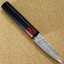 """Japanese SETO ISEYA-I Kitchen Fruit Paring Knife 3"""" Damascus Hammered SEKI JAPAN"""