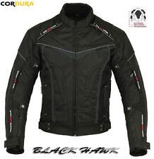Blousons noirs textiles ajustable taille S pour motocyclette