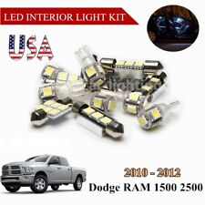 US 5x LED Lights White Interior Bulbs Package For 2010-2012 Dodge RAM 1500 2500