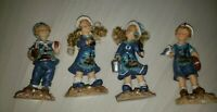 New 2004 Lot Of 4 Figurines Beach Themed 2 Boys & 2 Girls In Original Box