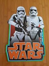 METAL STAR WARS TROOPER DECOR plaque display black white orange character helmet