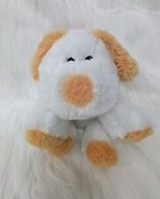 "Puli Int White Tan Puppy Dog Floppy Ears Super Soft Furry Plush 9"" Toy B202"