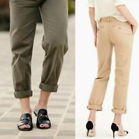J. Crew Olive Green Boyfriend Chino Straight Leg Pants Distressed Cotton Size 0
