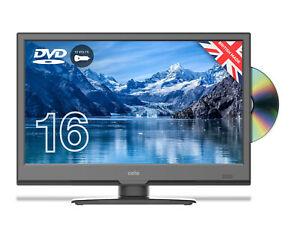 "CELLO 16"" INCH TV 12v volt FULL HD LED TV FREEVIEW HD, SAT & DVD USB CARAVAN TV"