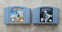 Star Wars Rogue Squadron & Star Wars Shadows of the Empire Nintendo 64 N64 WORKS