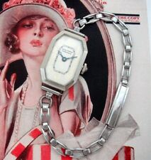 Ladies' Antique Vintage Deco Waltham White Gold Filled Wristwatch – SERVICED