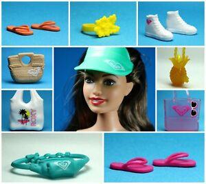 Barbie Fashionistas Choose Pick Set 35 ROXY Shoes Sandals Purse Choker Hat Purse