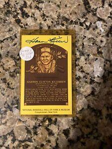 Harmon Killebrew Autographed Signed Baseball HOF Plaque Postcard Minnesota Twins