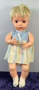 Vintage Blonde Hard Plastic Large Baby Doll