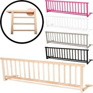 Bettschutzgitter Massivholz 127cm Kinder Bett Schutz Gitter + Befestigungsbänder