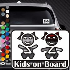A90# Aufkleber Baby on Board Kind an Bord Tour Kinder Kids in Auto Buggy Sticker