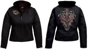 Harley Davidson XL WICKED 3-in-1 Cotton Nylon Jacket w Hoodie Liner 97484-09VW
