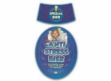 Bieretikett für ein Anti Stress Bier 2 tlg.