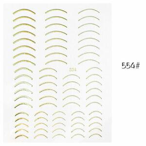 1 Sheet French Tip Guides Sticker Manicure Stripe Edge Nail Art Decoration DIY