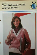 Donna V collo SWEATHER Knitting Pattern 32-38 pollici petto