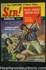 """Sir! Annual"" Winter 1961 Cleavage Cvr, June Wilkinson,  Anita London , WWII - U"