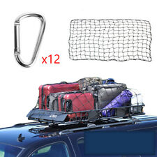 Car Van SUV Roof Top Cargo Rack Carrier Luggage Elastic Mesh Travel 180x120CM