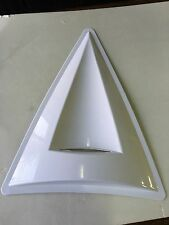 CAR HOOD ROOF AIR FLOW SCOOP DECORATION VENT COVER BIG TRIANGLE WHITE