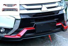 Black Sport Rear Bumper-Lower Molding Trim For Mitsubishi Outlander 2016-2019
