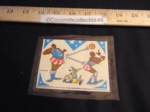 Vintage 1970 CBS TV Harlem Globetrotters Cereal Premium Basketball Stickers