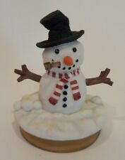 """Snowman Candle Jar Topper """"Our America"""" Adorable Details and Features       E"""